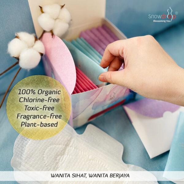 SALE 2 Basic Kit Premium Organic Cotton Pads + FREE Mini Liner 12 pcs